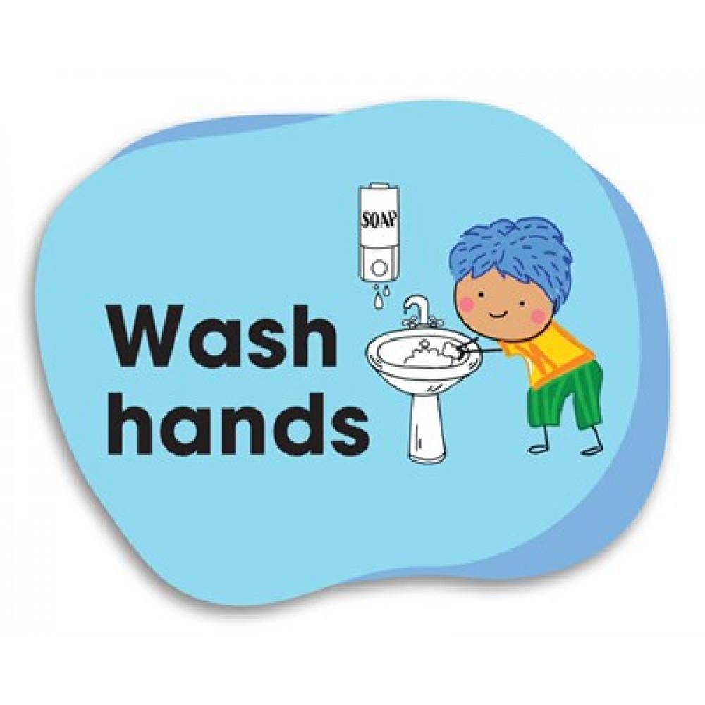 Durus School Outdoor Floor Adhesive Memory Jogger Wash Hands