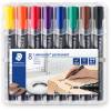 STAEDTLER LUMOCOLOR® Permanent Marker 352 Bullet Assorted Wallet of 8