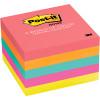 POST-IT 654-5PK NOTES NEON Prem Colours 100Shts 76x76mm Pack of 5