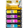POST-IT 683-4AB MINI FLAGS 9x43mm Blue Pink Purple Yellow Pack of 140