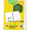 MARBIG UNPUNCHED DIVIDERS A4 10 Tab White Includes 10 Tabs