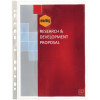 MARBIG COPYSAFE SHEET PROTECTOR A4 Silver Strip, Glass Clear Box of 100