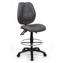 Sabina Drafting Chair Curved Med/High Back fully ergo - Grey Fabric