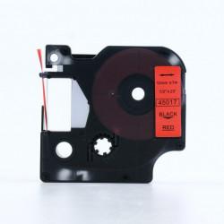 Compatible D1 LABEL CASSETTE 12mmx7m - Black on Red