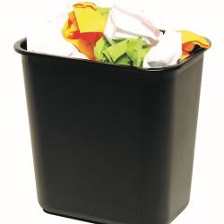 Marbig Enviro Waste Paper Bin 12 lt -BLACK