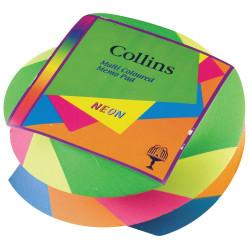 Collins Colour Block Memo Pad Neon Swirl 85x85 Assorted