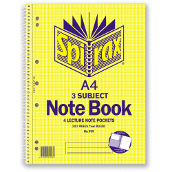 SPIRAX 599 NOTEBOOK 3 SUBJECT A4 300 Page 297x220mm S/O