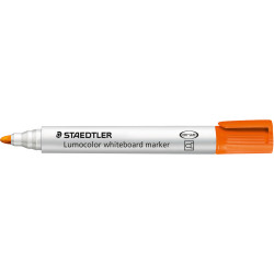 STAEDTLER 351 LUMOCOLOUR Whiteboard Marker Orange Box of 10