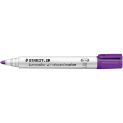 STAEDTLER 351 LUMOCOLOUR Whiteboard Marker Purple Box of 10