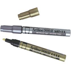 ARTLINE 900XF METALLIC MARKER Med Bullet Asstd Gold/Silver Box of 12
