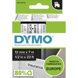 DYMO D1 LABEL CASSETTE 12mmx7m -Black on White