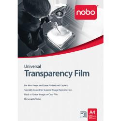 NOBO UNIVERSAL OHP FILM Inkjet/Laser Pack of 25