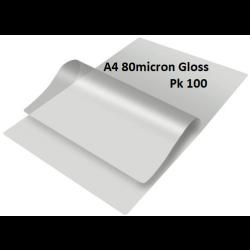 Laminating Pouches A4 80 Micron Gloss