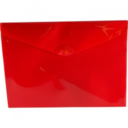 A4 PP Document Wallet ( Doculope ) Tinted Red with Button