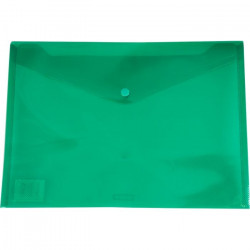 A4 PP Document Wallet ( Doculope ) Tinted Green with Button