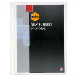 Marbig Deluxe Medium Weight Copysafe Sheet Protectors A4 Premium 100's
