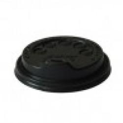 8oz Black Coffee Cup Lids - PACK 1000