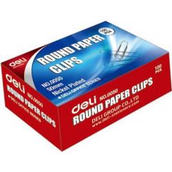 Deli 33mm Paper Clips Box 100