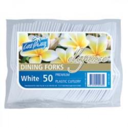 Elegance Premium Forks White 50 Packs