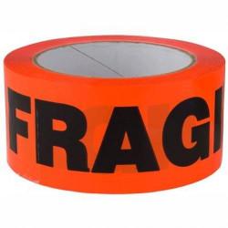 Poly Fragile Tape Black on Orange 48mmx66m - FRAGILE