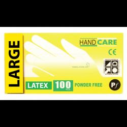 Gloves Handcare Latex Large Lalan 240mm - Powder Free