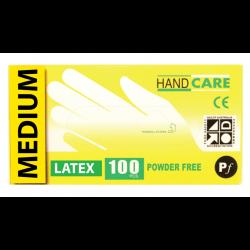 Gloves Handcare Latex Medium Lalan 240mm - Powder Free