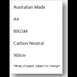 50 Ream Bundle - Copy Paper A4 80gsm  - Australian Made & Carbon Neutral 160cie