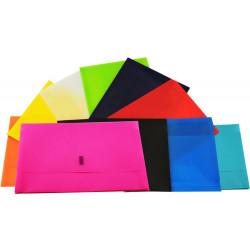 Osmer Plastic Document Wallets Foolscap Black (Polypick)