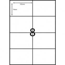 Rediform A4/8C Label Sheet 8 Label P/Sheet A4 104 x 74mm