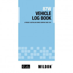 Wildon 87W Vehicle Log Book 105 x 210 mm (DL SIze)