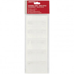 Meto Large Delta Hang Tabs 44mm x 37mm - Pack of 50