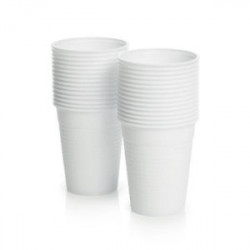 Premium Disposable Plastic Cups - White 200ml