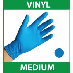 Handcare Blue Low Powdered Vinyl Food 100pk Gloves - Medium