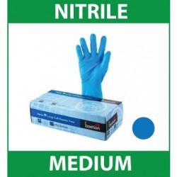 Gloves Handcare Blue Nitrile Medium Lalan 240mm - Powder Free