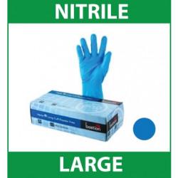Gloves Handcare Blue Nitrile Large Lalan 240mm - Powder Free