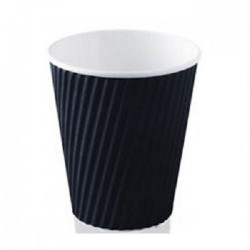 Double Wall Black Coffee Cups - 8oz  PACK 1000