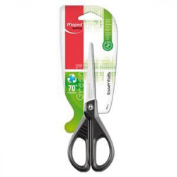 "Maped Essentials ""Green"" Scissors - Recycled Black Handles -17cm"