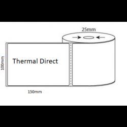 Zebra Thermal Direct 102 x 150mm x 25mm core White Matt Labels (500LPR) Roll