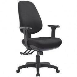 Task Seat High Back TR600 Adjustable Mega Seat, Back, Arms 3 Lever ergonomic mech AFRDI L6 -Black