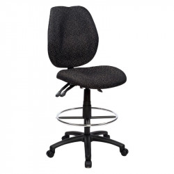 Sabina Drafting Chair Curved Med/High Back fully ergo - Black Fabric