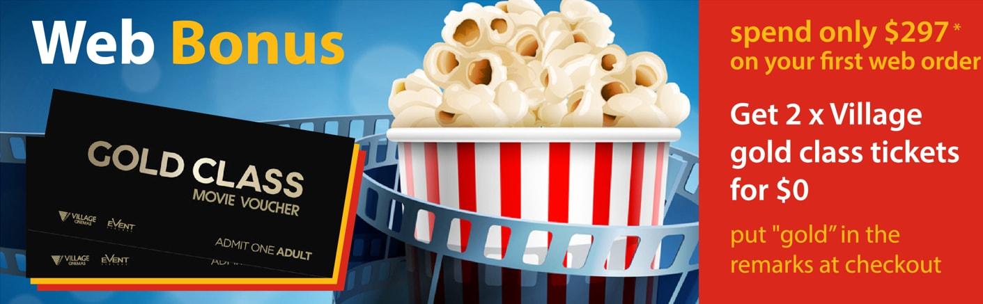 Web Bonus: Gold Class Movie Tickets!